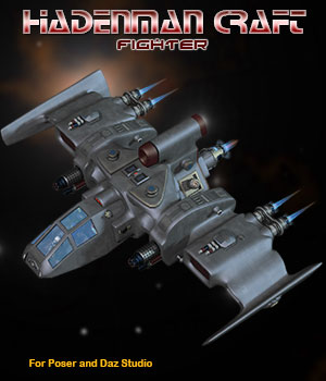 Sci-Fi Craft Hadenman Fighter 3D Models Simon-3D