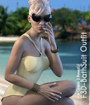 F3D-Bathsuit Outfit for Genesis 3 Females 3D Figure Assets Fashionista3D