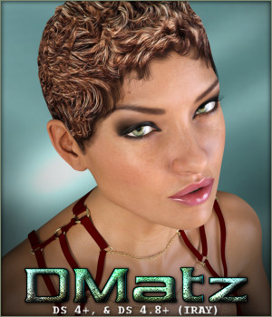 DMatz MSC Painter Hair 3D Figure Assets -Wolfie-