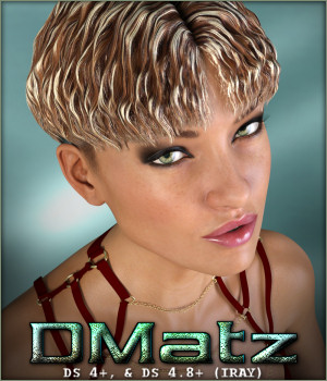 DMatz MSC Wavy Hair 3D Figure Essentials -Wolfie-