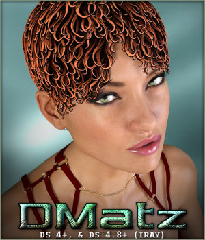 DMatz MSC Cartoon Hair 3D Figure Assets -Wolfie-
