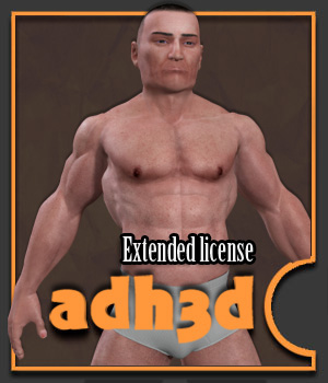adman v2 - Extended License 3D Models Game Content - Games and Apps adh3d