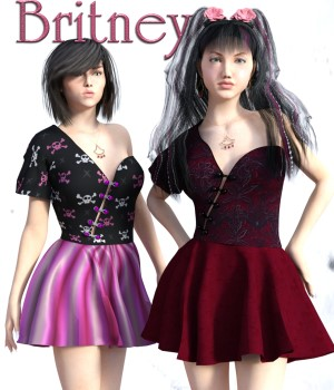 Britney Dress for G3F 3D Figure Essentials chasmata