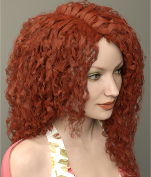 Rosaline Hair for Genesis 3 Female(s) 3D Figure Assets Toyen