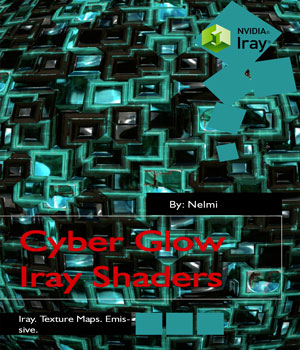 Cyber Glow Iray Shaders for Daz Studio 3D Figure Assets nelmi