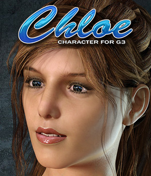 Exnem Chloe Character for G3 Female 3D Figure Assets exnem
