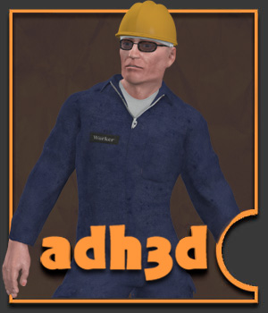 The worker for adman v2 3D Figure Assets adh3d