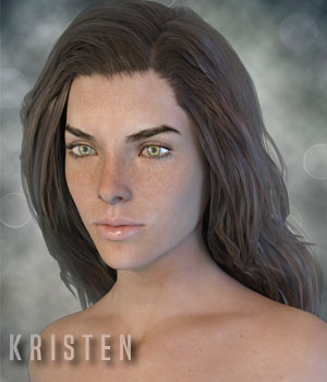 Kristen for Genesis 3 Females 3D Figure Assets xtrart-3d