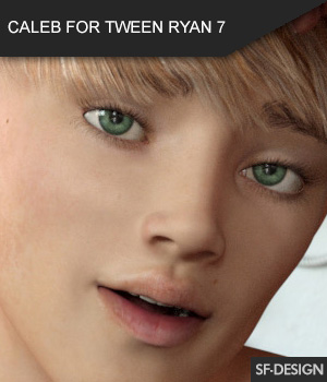 Caleb for Tween Ryan 7 - Full Character 3D Figure Assets SF-Design