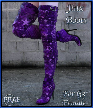 Jinx Boots for G3 3D Figure Essentials prae