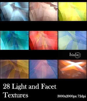 28 Light and Facet Textures 2D biala