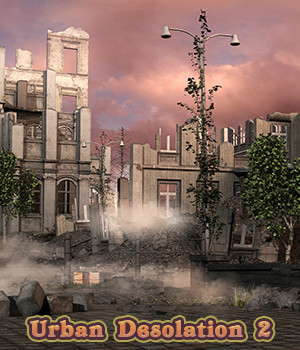Urban Desolation Backgrounds 2 2D fictionalbookshelf