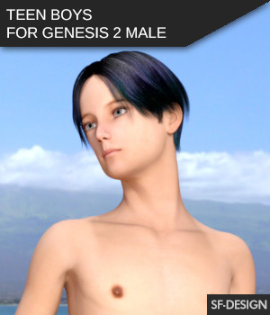 Teenboys for Genesis 2 Male 3D Figure Essentials SF-Design