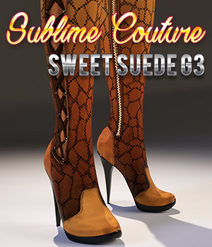 Sublime Couture: Sweet Suede G3 3D Figure Assets 3DSublimeProductions