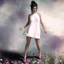 The Little White Dress for Genesis 3 image 2