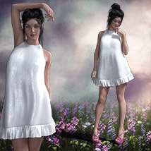 The Little White Dress for Genesis 3 image 4