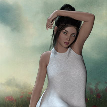 The Little White Dress for Genesis 3 image 7
