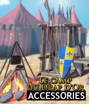 Le Camp du Drap d'or - Accessories 3D Models powerage