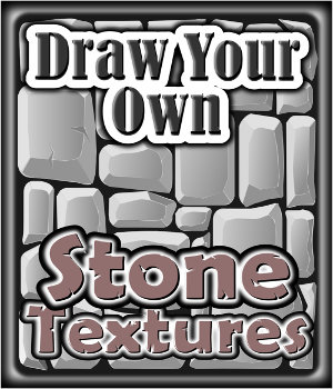 Draw Your Own -  STONE Textures Tutorials : Learn 3D Winterbrose