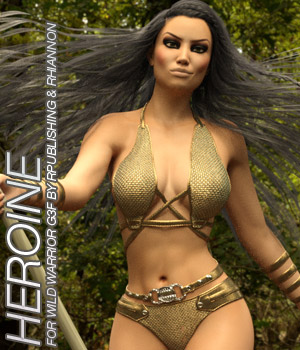 HEROINE - Wild Warrior for the Genesis 3 Female 3D Figure Essentials Anagord