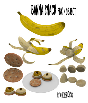Banana Snack FBX OBJ  3D Models uncle808us