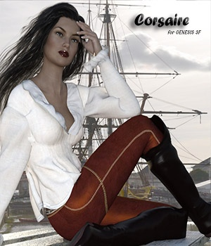 Corsaire for Genesis 3 F 3D Figure Assets zachary