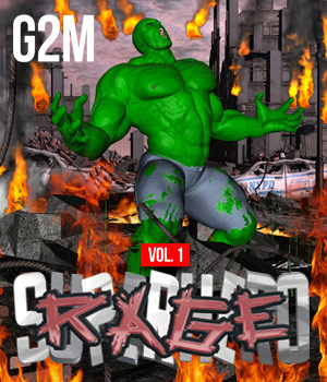 SuperHero Rage for G2M Volume 1  3D Figure Essentials GriffinFX