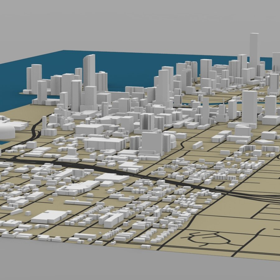 Miami Cityscape - Extended License