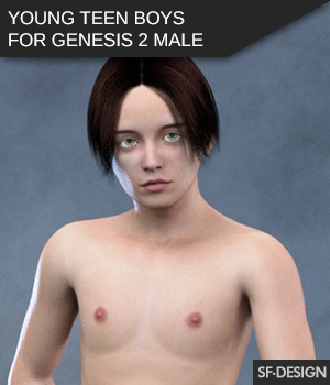 Young Teenboys for Genesis 2 Male 3D Figure Essentials SF-Design