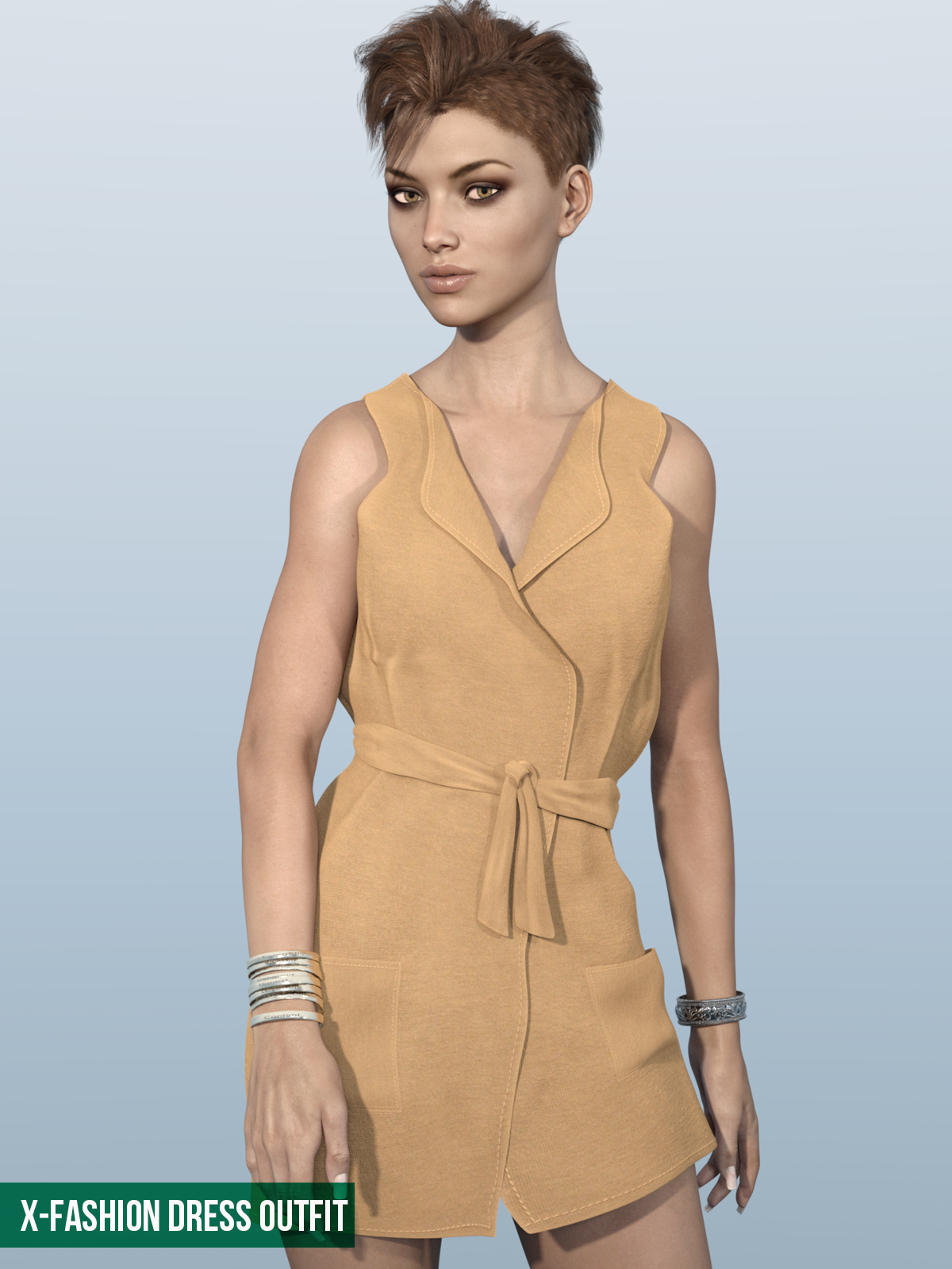 Fashion Dress Outfit for Genesis 3 Females