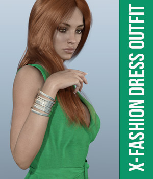 Fashion Dress Outfit for Genesis 3 Females 3D Figure Assets xtrart-3d