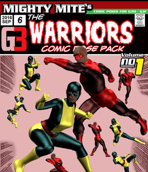 The Warriors v01 : By MightyMite for G3M and G3F 3D Figure Assets MightyMite