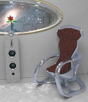 Rubrid Chair for Poser 3D Models BionicRooster