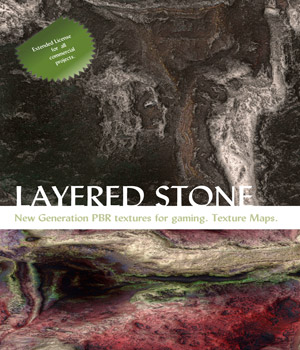 10 Seamless Layered Stone Texture with Maps - Extended License 2D Graphics Extended Licenses nelmi