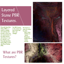 10 Seamless Layered Stone Texture with Maps - Extended License image 1