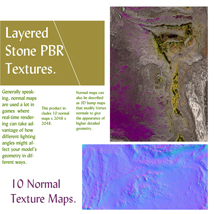 10 Seamless Layered Stone Texture with Maps - Extended License image 2