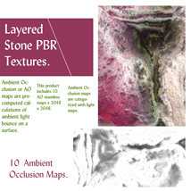 10 Seamless Layered Stone Texture with Maps - Extended License image 3