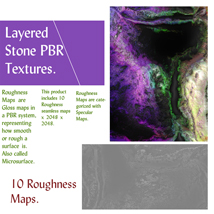 10 Seamless Layered Stone Texture with Maps - Extended License image 5