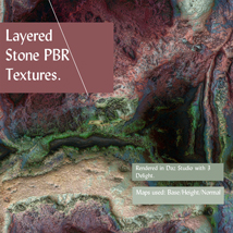 10 Seamless Layered Stone Texture with Maps - Extended License image 6