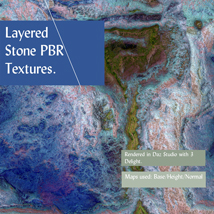 10 Seamless Layered Stone Texture with Maps - Extended License image 7