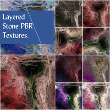 10 Seamless Layered Stone Texture with Maps - Extended License image 8