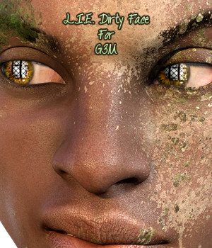 L.I.E Dirty Faces For Genesis 3 Male 3D Figure Assets fictionalbookshelf