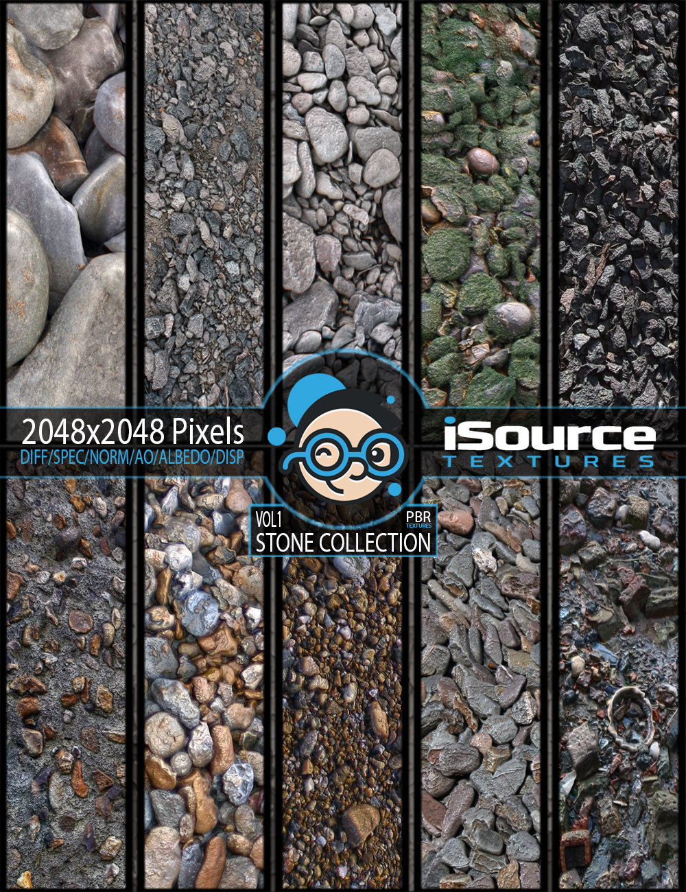 Stone Collection - Vol1 (PBR Textures) 2D Graphics