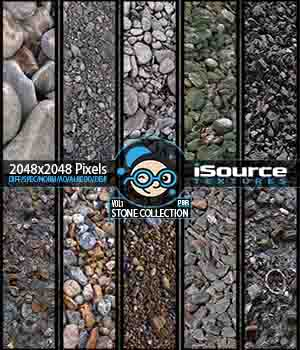 Stone Collection - Vol1 (PBR Textures) 2D KobaAlexander