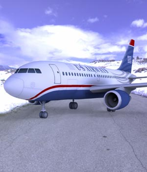 Airbus A-318 (3ds/ obj) - Extended License 3D Models Extended Licenses Digimation_ModelBank
