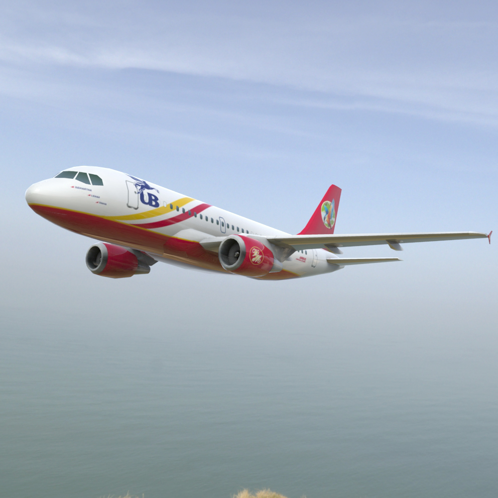 Airbus A-319  3ds and obj - Extended License