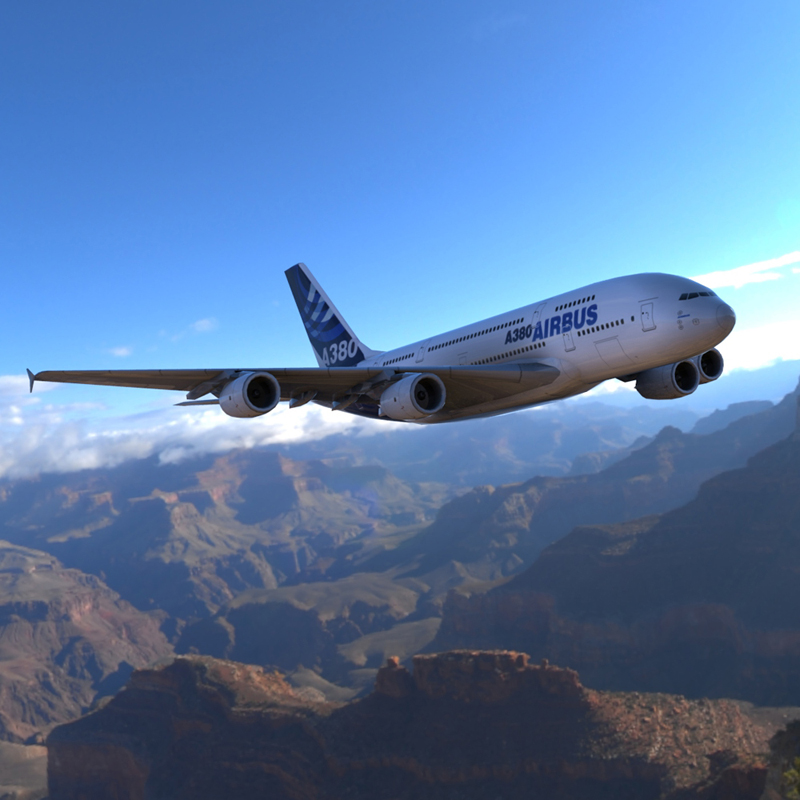 Airbus A380 for Wavefront OBJ and Vue - Extended License