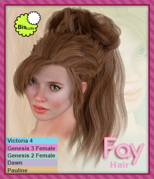 Biscuits Fay Hair 3D Figure Assets Biscuits