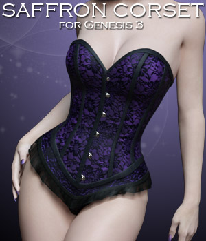 Saffron Corset for Genesis 3 3D Figure Essentials Rhiannon