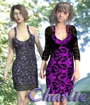 Charlie Dress for G3F 3D Figure Essentials chasmata
